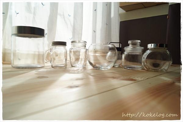 100均で買える苔テラリウム向きのガラス瓶