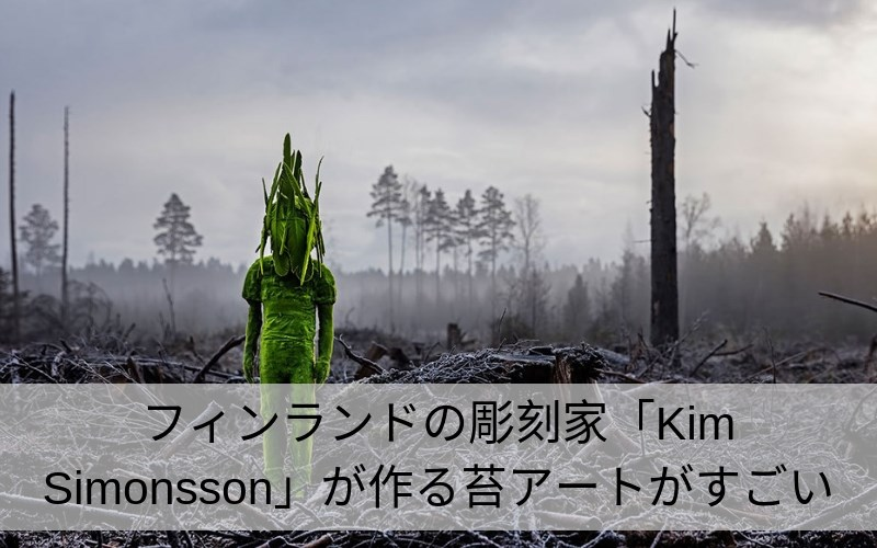 Kim Simonssonの苔アート紹介